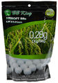BB King 0.28g Biodegradable BBs 3570 Rounds, White