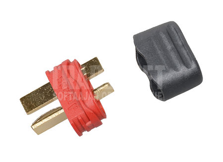Deans T-Connector with Insulating Cork, Male