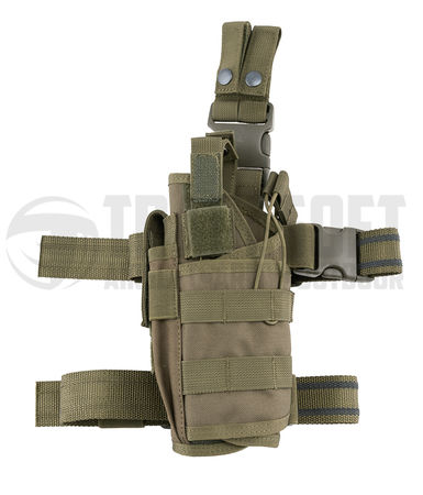 8 Fields Tornado Drop Leg Pistol Holster, OD (Left-Handed)