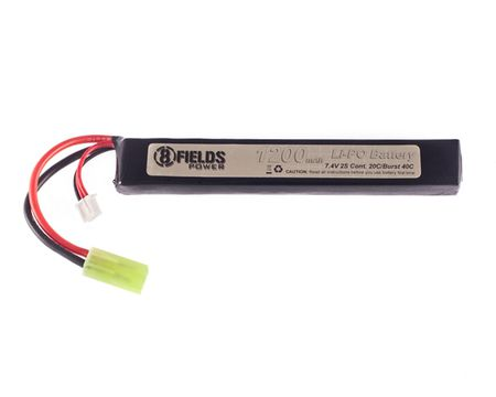 8 Fields 7.4V 1200mAh (20/40C) LiPo Stick Type Battery, Tamiya Mini Connector