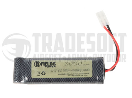 8 Fields 8.4V 3000mAh NiMH Large Type Battery, Tamiya Large Connector