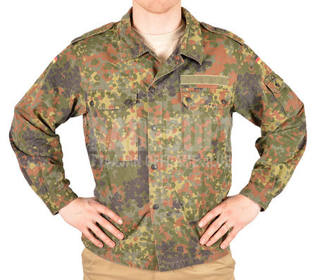Bundeswehr Military Uniform Field Jacket, Flecktarn, Used