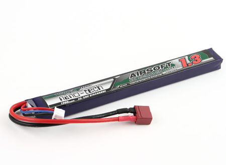Turnigy Nano-tech 7.4V 1300mAh (25/50C) LiPo Stick Type Battery, Deans Connector