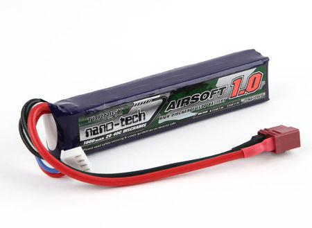 Turnigy Nano-tech 11.1V 1000mAh (20/40C) LiPo Stick Type Battery, Deans Connector