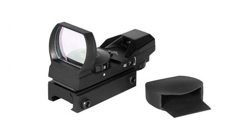 ACM Open Red/Green Dot Sight, 4 Reticles, Black