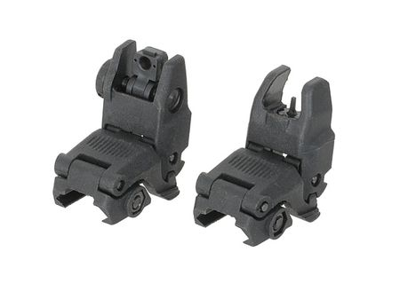 FMA Tactical Front and Rear Sights Gen. 2, Black (Modular Back-Up Sight)