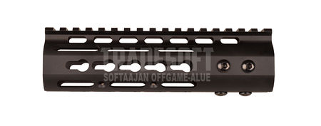 Shooter Aluminum KeyMod RAS Rail for M4/M16 Series, Black (7 Inches)