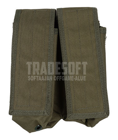 Mil-Tec Double Magazine Pouch for Four AK Mags, OD