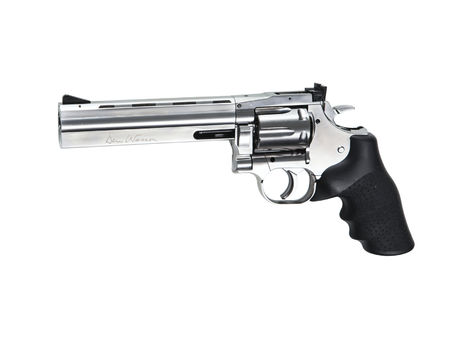 ASG Dan Wesson 715 CO2 Revolver, Silver (6 Inches), Low Power