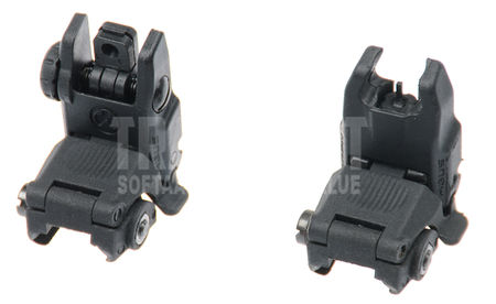 AS-Tac Tactical Front and Rear Sights Gen. 2, Black (Modular Back-Up Sight)