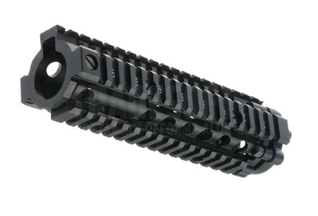 AS-Tac Aluminum MK18 RIS II Rail for M4/M16 Series, Black (7.5 Inches)