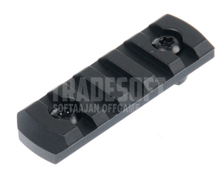 AS-Tac Aluminum M-LOCK Rail Section, Black (2.5 Inches)