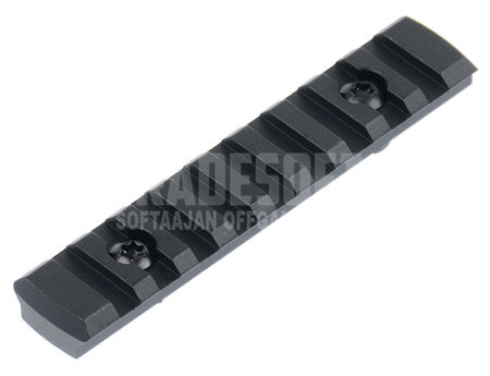 AS-Tac Aluminum M-LOCK Rail Section, Black (4 Inches)