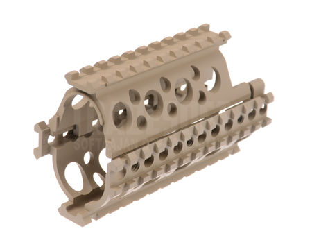 AS-Tac Aluminum RIS Hand Guard for AKS-74U Series, Tan