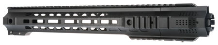 AS-Tac Aluminum M-LOCK GRY Rail with JailBrake Flash Hider for M4/M16 Series, Black (14 Inches)