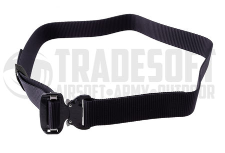 Bayonet Combat Heavy Duty Belt with Cobra Nautic Buckle, Black
