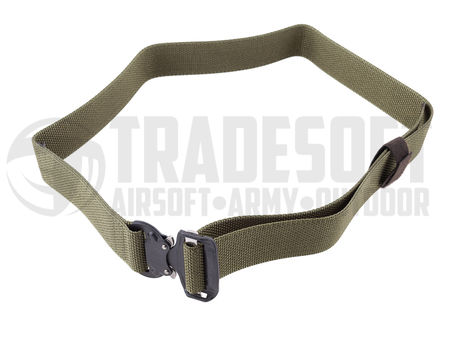 Bayonet Combat Belt with Cobra Nautic Buckle, Ranger Green