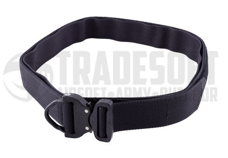 Bayonet Guardian Equipment Belt with Cobra Buckle and Under Belt, Black