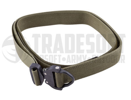 Bayonet Guardian Equipment Belt with Cobra Buckle and Under Belt, Ranger Green