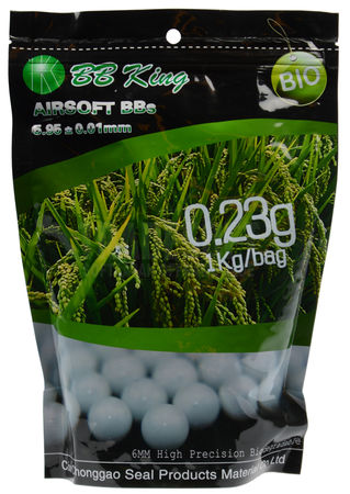 BB King 0.23g Biodegradable BBs 4350 Rounds, White