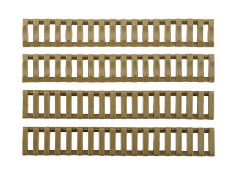 Big Dragon RIS Rubber Ladder Rail Cover, Coyote Brown, 4pcs