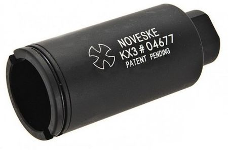 ACM Noveske KX3 Flash Hider, Long, Black (14mm, CCW)