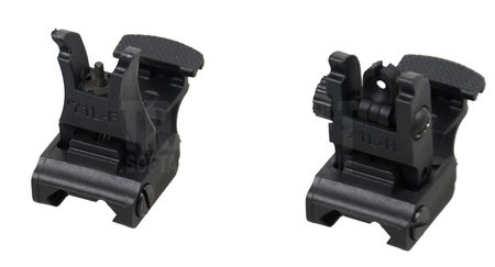 Big Dragon Polymer Front and Rear Sights, Black