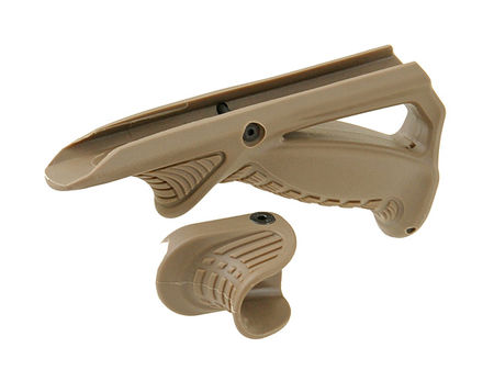 Big Dragon Angled Fore Grip and Thumb Rest, Tan