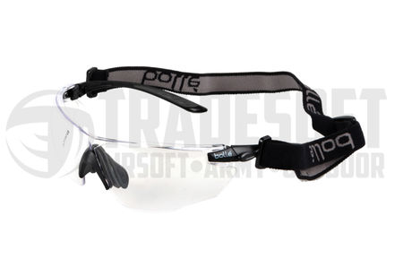 Bollé Combat Safety Glasses with Strap, Three Lenses