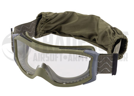 Bollé X1000 Standard Safety Goggles with Clear Lens, NATO Green