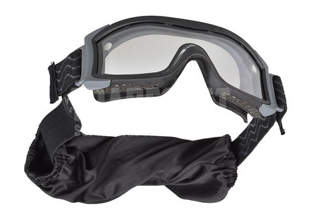 Bollé X1000 Standard Safety Goggles with Clear Dual Lens, Black