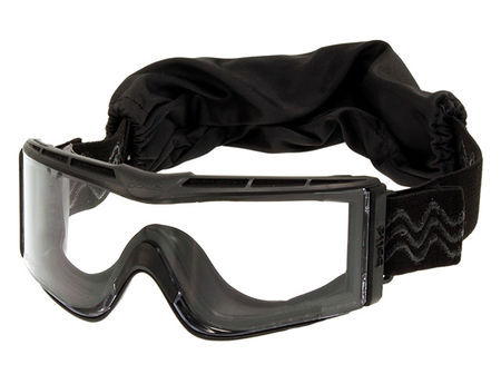Bollé X810 Safety Goggles with Clear Lens, Black