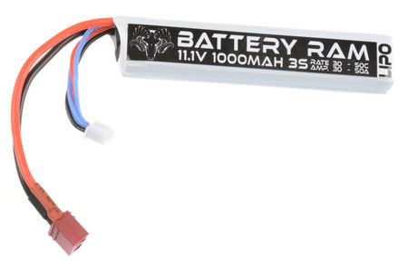 Battery Ram 11.1V 1000mAh (30/50C) LiPo Stick Type Battery, Deans Connector