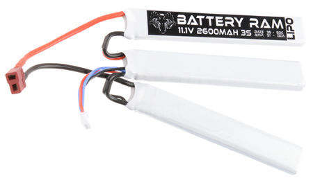 Battery Ram 11.1V 2600mAh (35/50C) LiPo Crane Type Battery, Deans Connector