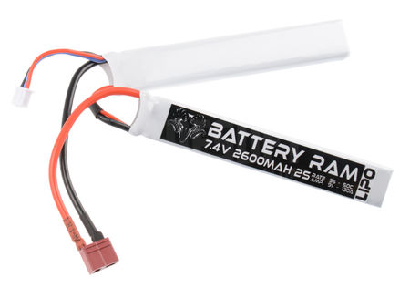 Battery Ram 7.4V 2600mAh (35/50C) LiPo Crane Type Battery, Deans Connector