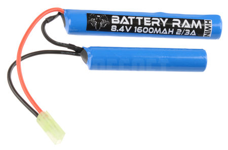 Battery Ram 8.4V 1600mAh NiMH Crane Type Battery, Tamiya Mini Connector