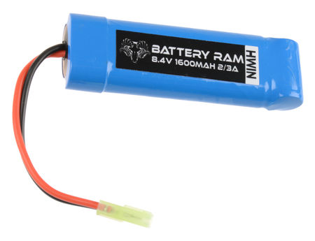 Battery Ram 8.4V 1600mAh NiMH Mini Type Battery, Tamiya Mini Connector