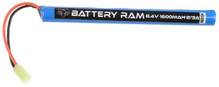 Battery Ram 8.4V 1600mAh NiMH Stick Type Battery, Tamiya Mini Connector