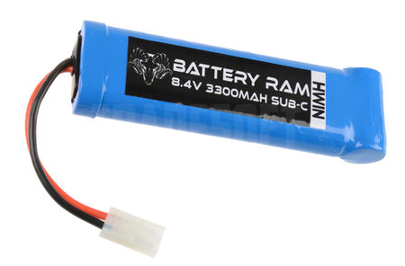 Battery Ram 8.4V 3300mAh NiMH Large Type Battery, Tamiya Large Connector
