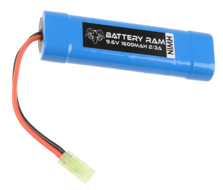 Battery Ram 9.6V 1600mAh NiMH Mini Type Battery, Tamiya Mini Connector