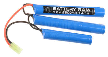 Battery Ram 9.6V 2200mAh NiMH Crane Type Battery, Tamiya Mini Connector