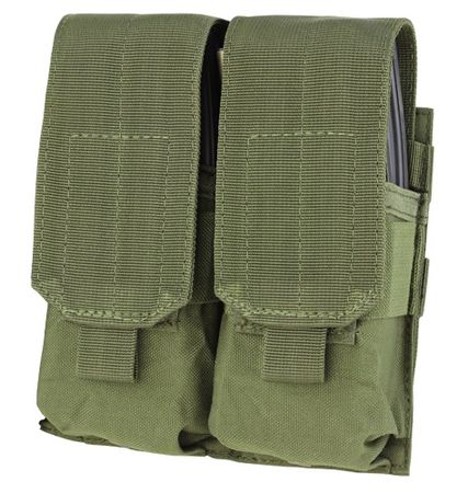 Condor Double Magazine Pouch for Four M4/M16 Mags, OD