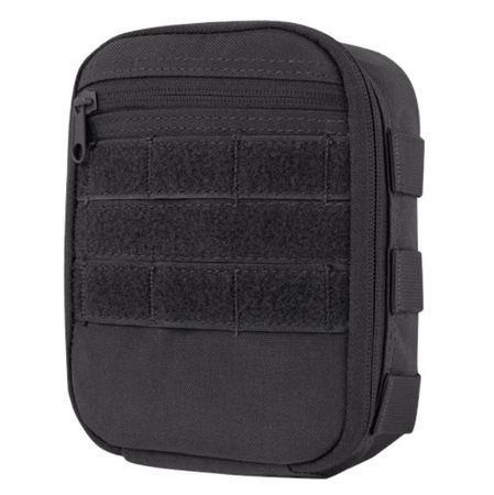 Condor Medium Vertical Utility Pouch, Black (Side Kick Pouch)
