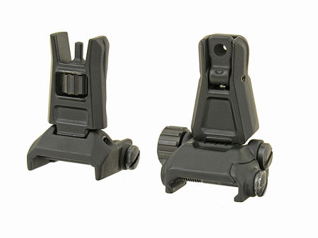 CS Metal Front and Rear Sights, Gen. 3, Black