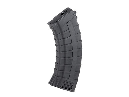 CYMA Reinforced Polymer Mid-Cap Magazine for AK47 Series, Black (130 Rounds)