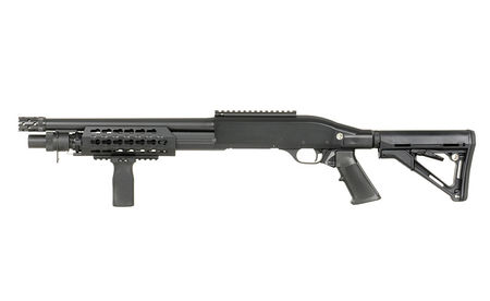CYMA M3 Tactical KeyMod Shotgun with Collapsible Stock (Full Metal), CM366M