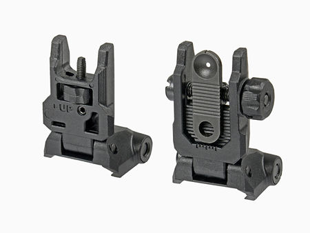 CYMA Tactical Folding Front and Rear Sight, Black