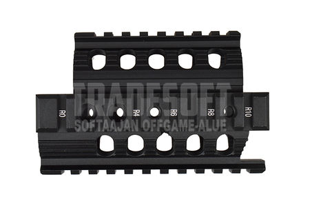 CYMA Metal RIS Hand Guard for AKS-74U Series, Black
