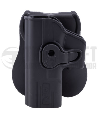 Cytac Hard Adjustable Holster with Paddle Platform for G19/18C/17 (Left-Handed)