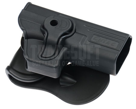 Cytac Hard Adjustable Holster with Paddle Platform for WE/Tokyo Marui/Stark Arms G Series 17/18C/19/23F/34 (Airsoft Model)